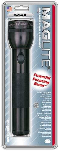 black maglite flashlight s2d016 uses 2 d cell batteries. Black Bedroom Furniture Sets. Home Design Ideas