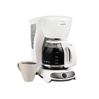 Salton Dual Coffee Maker : Mr. Coffee, White, 12 Cup, Programmable Coffeemaker, Model Number TFX20