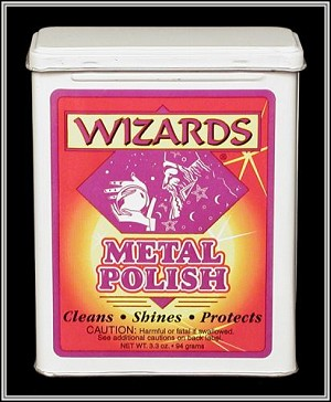 WIZARDS, BEST METAL POLISH, FOR DETAILING and POLISHING ALUMINIUM, CHROME,  STAINLESS STEEL, BRASS, COPPER, AND ALL OTHER METALS  11011