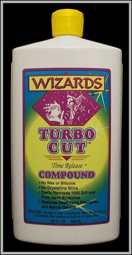 WIZARDS, TURBO CUT, COMMERCIAL BODY SHOP QUALITY TIME RELEASE COMPOUND  11044