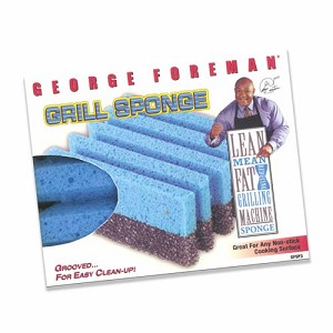 George Foreman Specially Designed Grill Sponges, 3 Pack.  NEW ITEM