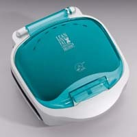 GEORGE FOREMAN SUPER CHAMP GRILL, GR18BWT, Teal Bun Warmer