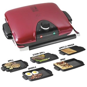 IN STOCK AND READY TO SHIP!!!   GEORGE FOREMAN G5, NEW ELECTRIC GRILL, GRP90WGR