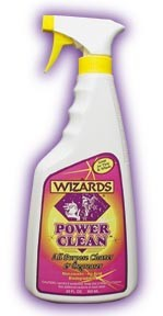WIZARDS DETAILING PRODUCTS, POWER CLEAN, MULTI PURPOSE CLEANER, DEGREASER, FOR WHEELS, RIMS, FRAMES, ENGINE COMPARTMENTS 11088