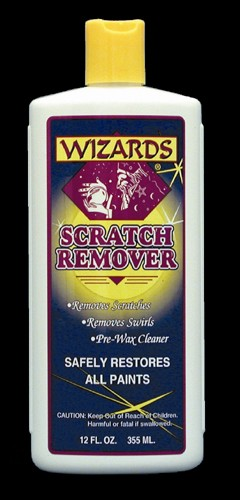 WIZARDS, PROFESSIONAL GRADE SCRATCH REMOVER, AND PRE WAX CLEANER, PRE POLISH CLEANER 11049