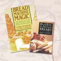 BREADMAN, RUSTIC EUROPEAN BREADS FROM YOUR BREAD MACHINE, BREAD RECIPE COOKBOOK