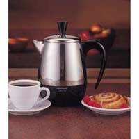 FARBERWARE, FCP240, COFFEE PERCOLATOR, 2 TO 4 CUP CAPACITY