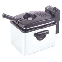 RUSSELL HOBBS, RHDF260A, LARGE 3.5 QT COOL STEEL, DEEP FRYER