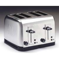 TOASTMASTER, RETRO STYLE, 4 SLICE, COOL STEEL TOASTER, with Chrome Finish
